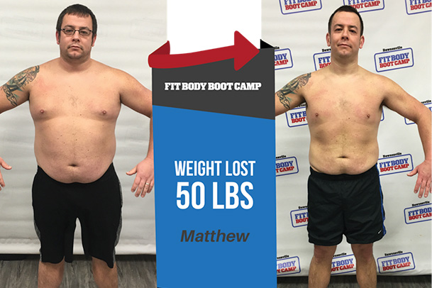 Fitness Before and After - Matthew